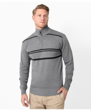 Half Zip Multi Stripe Jumper