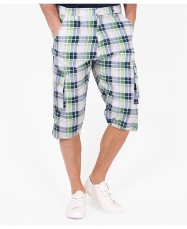 Knee Length Check Cargo Shorts