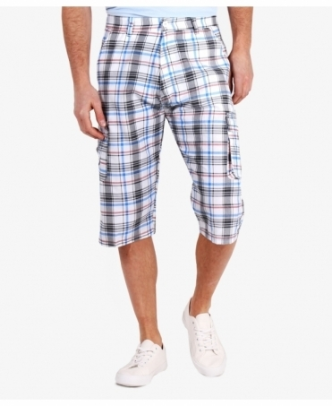 Multi Pocket Check Cargo Shorts
