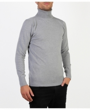MENS Plain Basic Turtleneck Jumper