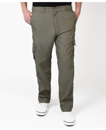 Plain Casual Cargo Trousers