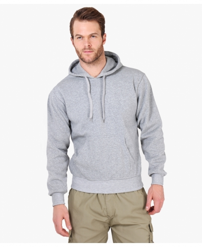 MENS Plain Jersey Pull On Hoodie