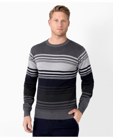 Striped Crew Neck Woollen Jumper