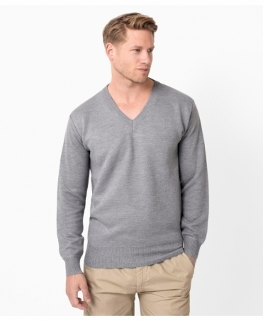 V-Neck Plain Woollen Jumper