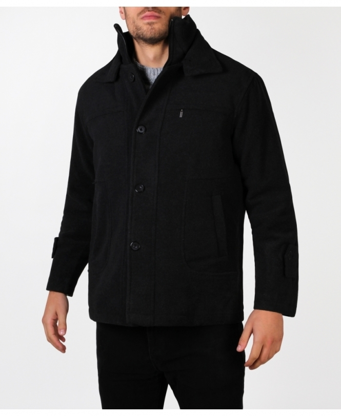 MENS Zip Up Short Pea Jacket