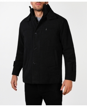 Zip Up Short Pea Jacket