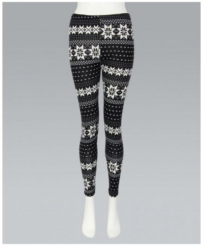 Misskrisp Woolen Knit Cream Pattern Leggings Womens From Krisp